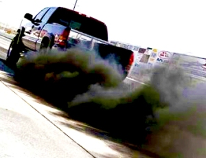 Soot coming out of a vehicle