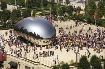 """The Bean"" in Millennium Park. This photo is from Anish Kapoor's website."
